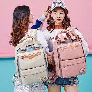 Image 4 - Студенческие рюкзаки для девушек, водонепроницаемый нейлоновый детский рюкзак для студентов средней школы, дорожные рюкзаки, детские школьные сумки, женские сумки