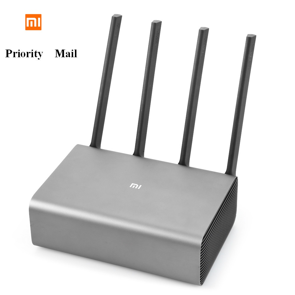 Original Xiao mi R3P 2600 Mbps inalámbrico inteligente Router Pro 4 antena Dual-banda de 2,4 GHz + 5,0 GHz WiFi dispositivo de red de correo de prioridad
