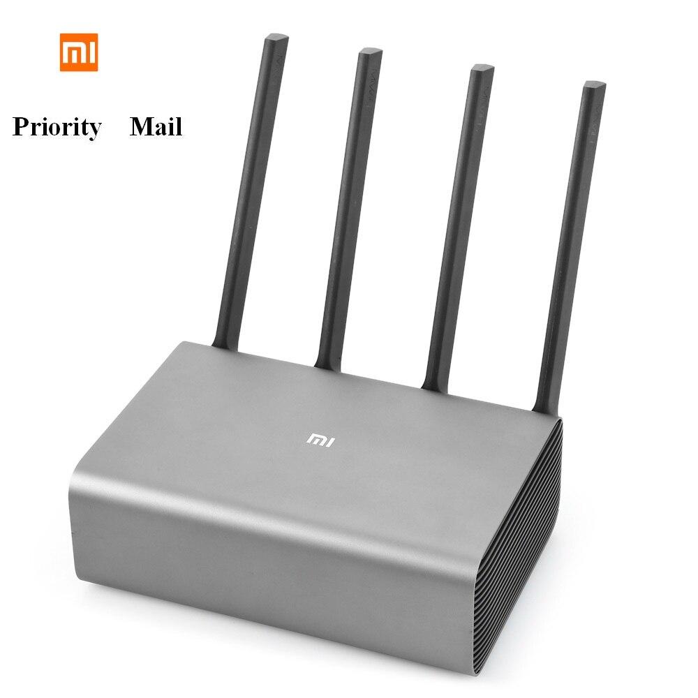 Original Xiaomi Mi R3P 2600 Mbps inalámbrico inteligente Router Pro 4 antena Dual-banda de 2,4 GHz + 5,0 GHz WiFi dispositivo de red de correo de prioridad