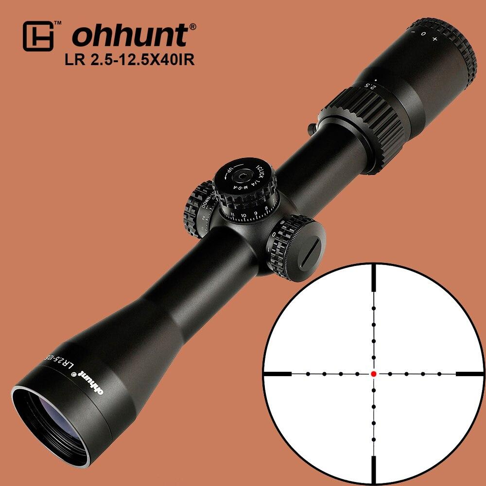 ohhunt Hunting LR 2 5 12 5X40 IR Riflescope Mil Dot Red Illumination Optical Sights Glass
