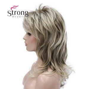 Image 4 - Strong beauty perruque complète synthétique classique Blonde Ombre à couches pour femmes, perruque longue Shaggy, couleur choix