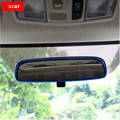 Free shipping !For 2013 2014 MITSUBISHI ASX rearview mirror Alloy decoration frame rearview mirror sticker  for asx accessories