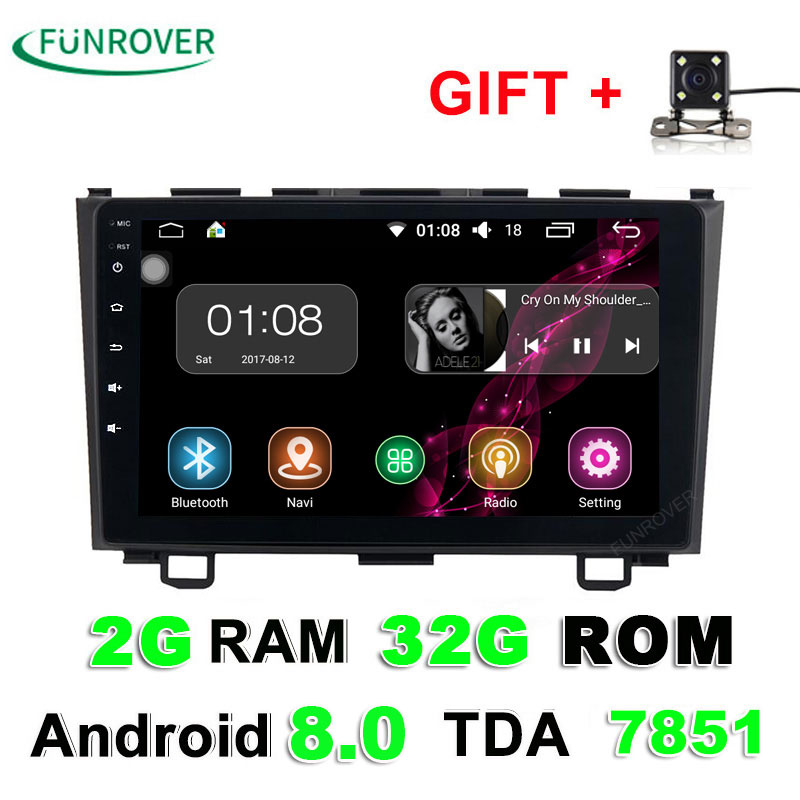 Funrover Android 8 0 font b Car b font dvd player GPS Navi For Honda CRV
