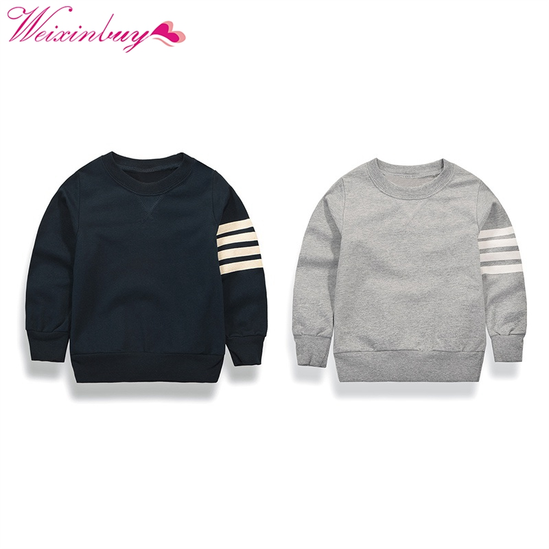 2017 Brand Kids T-shirts Boys Long Striped Sleeve Tops for a boy for Boy sweatshirt Casual Clothes Children Clothing