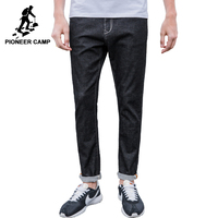 Pioneer Camp New Black Jeans Men Brand Clothing Simple Solid Denim Pants Male Top Quality Stretch