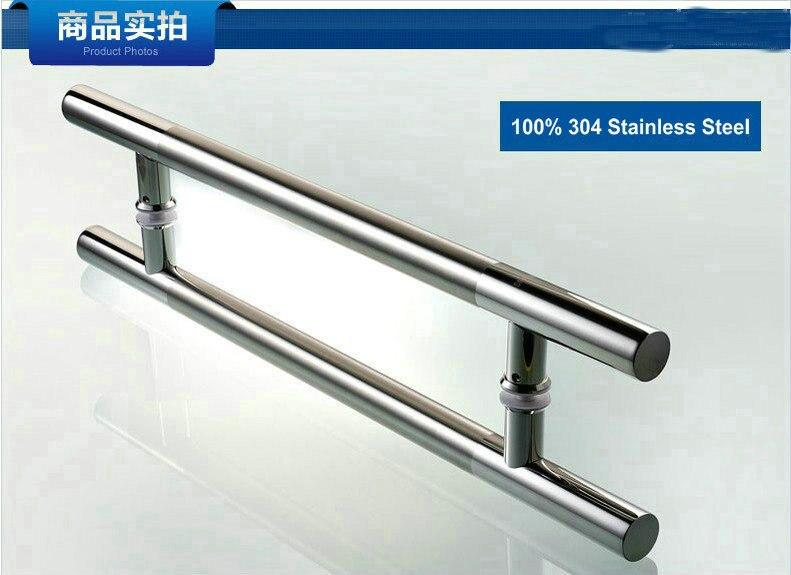 1500MM Long (1300MM Pitch) Upmarket Matt And Mirror Surface 100% Stainless Steel 304 Tubing Glass Door Handle, Pull Door Knob