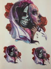 21 X 15 CM Corpse Bride Sexy Cool Beauty Tattoo Waterproof Hot Temporary Tattoo Stickers#152
