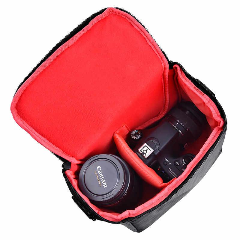 Fosoto DSLR Saco Da Câmera fotografia Digital Photo Video Shoulder Case Capa Sacos De Nylon Para Dslr Sony Canon Nikon D700 D300 d200