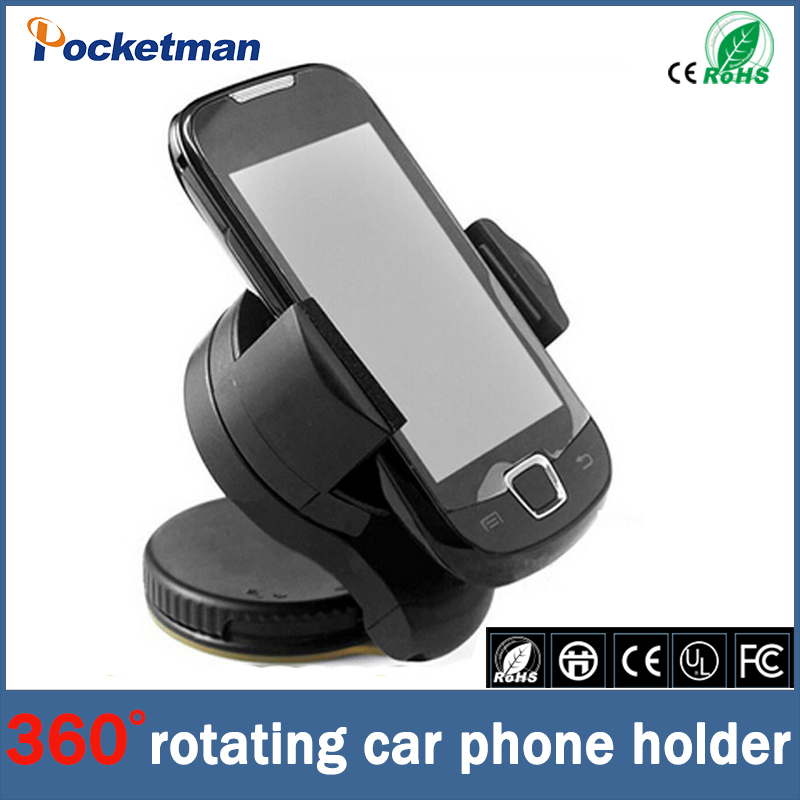 Universal 360 Degree Rotation Suction Cup Car Windshield Mobile Phone Holder Bracket Mount for iPhone GPS Mount Smartphone 360 degree rotation universal car windshield swivel mount holder bracket for smartphone black