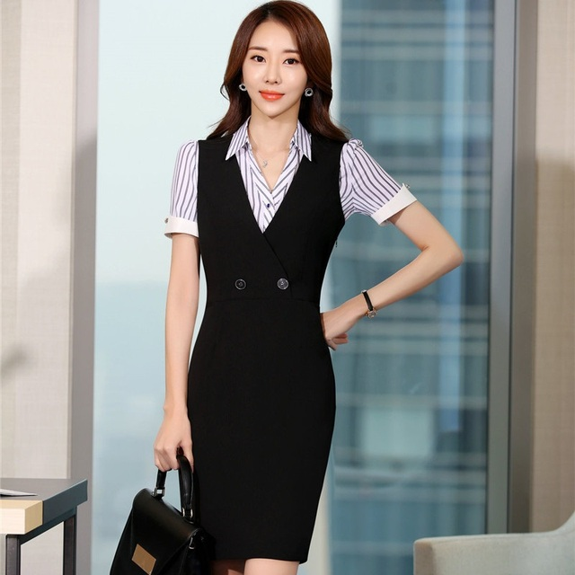 Summer Short Sleeve Formal Ol Styles Professional Business Women