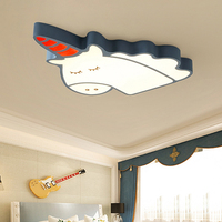 Светодио дный потолочные светильники для детской комнаты освещения Дети Детская комната потолочный светильник с затемнением для мальчико