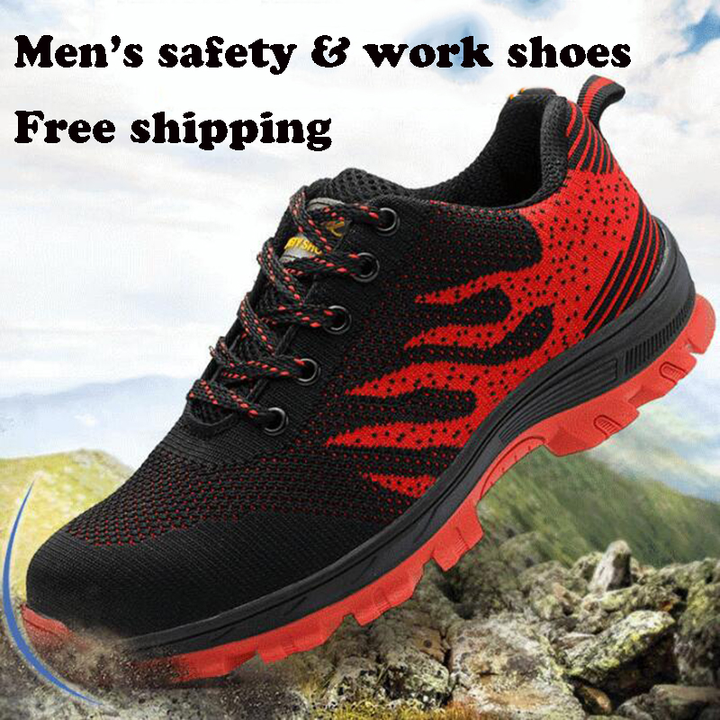 Breathable Mesh Shoes Mens Steel Toe Industrial & Construction Work Shoes Men Puncture Proof Safety Shoes Non-slip RubberBreathable Mesh Shoes Mens Steel Toe Industrial & Construction Work Shoes Men Puncture Proof Safety Shoes Non-slip Rubber