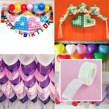 100pcs Balloon Glue Stickers DIY Wedding Birthday Baby Shower Party Decoration Adhesive Round Labels Removable Sticker
