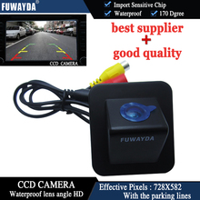 FUWAYDA Car Rear View Reverse With Guide Line Mirror Image Color CCD font b CAMERA b