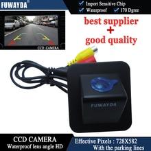 FUWAYDA Revés de la Opinión Posterior Del Coche Con la Línea de Guía de Imagen de Espejo de Color de la CÁMARA CCD para Hyundai Elantra Avante 2012 HD A PRUEBA de agua