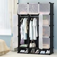 Простой шкаф в сборе пластиковый гардероб, спальня шкаф гардероб