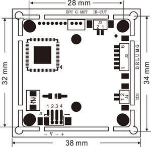 Image 3 - 4mp nvp2475 + ov4689 4 em 1 ahd tvi cvi cvbs câmera de segurança cctv módulo hd pcb placa principal