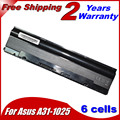 JIGU 5200mah Laptop Battery For Asus A31-1025For Eee PC 1025 1025C 1025CE 1225 1225B 1225C R052 R052C R052CE Free shipping
