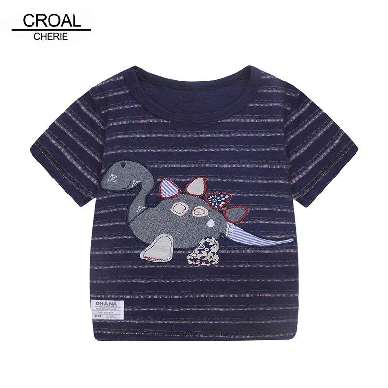80-120 см милые животные динозавра Детские Топы короткий рукав футболки летние дети Одежда и аксессуары для мальчиков Рубашки для мальчиков ф...