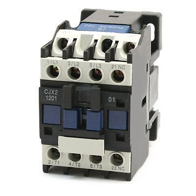 24V Coil Motor Control 3P+1NC DIN Rail Mount AC Contactor CJX2-1201 best quality ac contactor cjx2 150 150a 3p used for ac motor