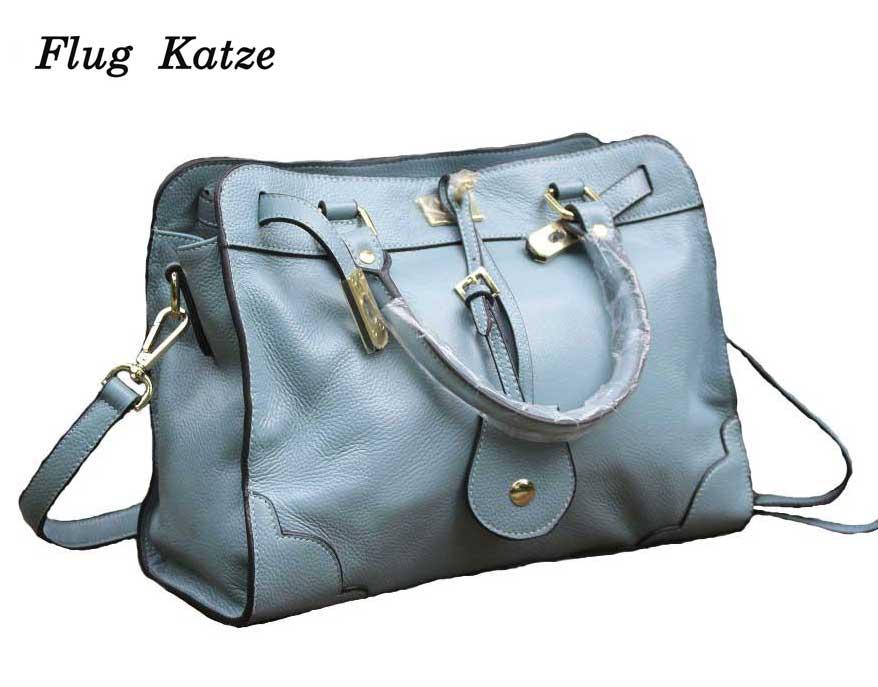 19 กระเป๋าถือผู้หญิง Cowhide ไหล่กระเป๋า Messenger กระเป๋าถือสุภาพสตรีคุณภาพสูงของแท้หนังผู้หญิงกระเป๋าถือหรูหรา Tote-ใน กระเป๋าสะพายไหล่ จาก สัมภาระและกระเป๋า บน   1