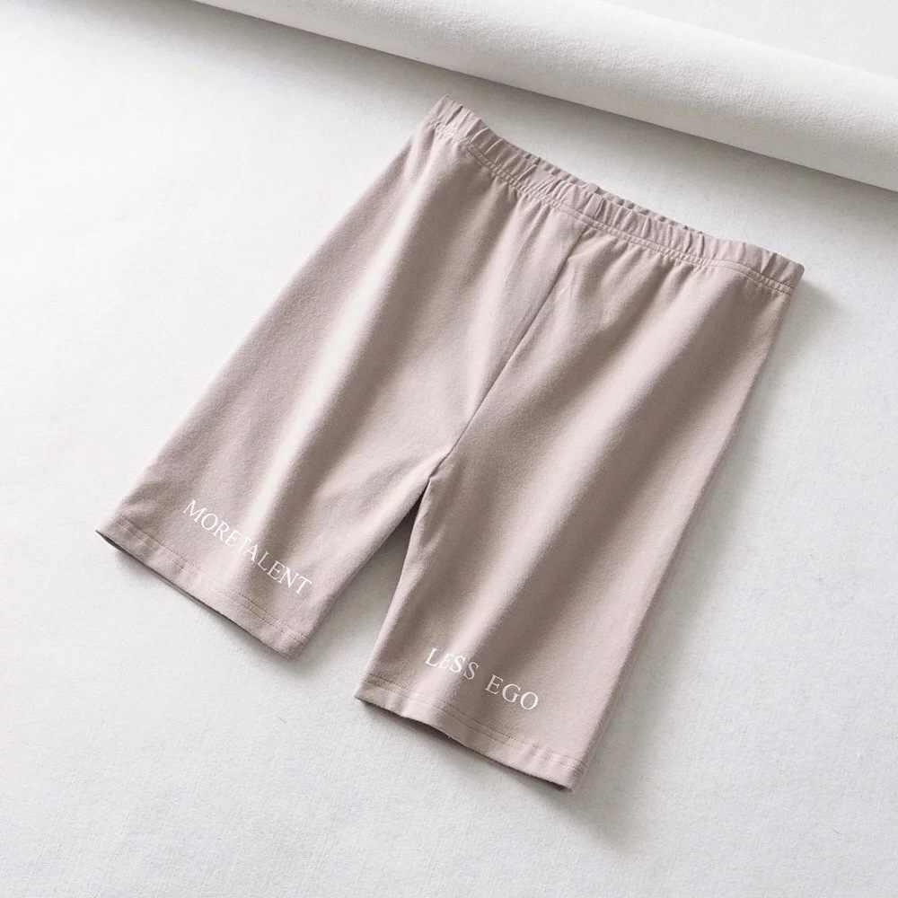 DANJEANER lato spodenki w 2019 wysokiej talii szorty kobiety elastyczny pas Skinny Fitness Casual Sexy krótkie litery druku spodenki