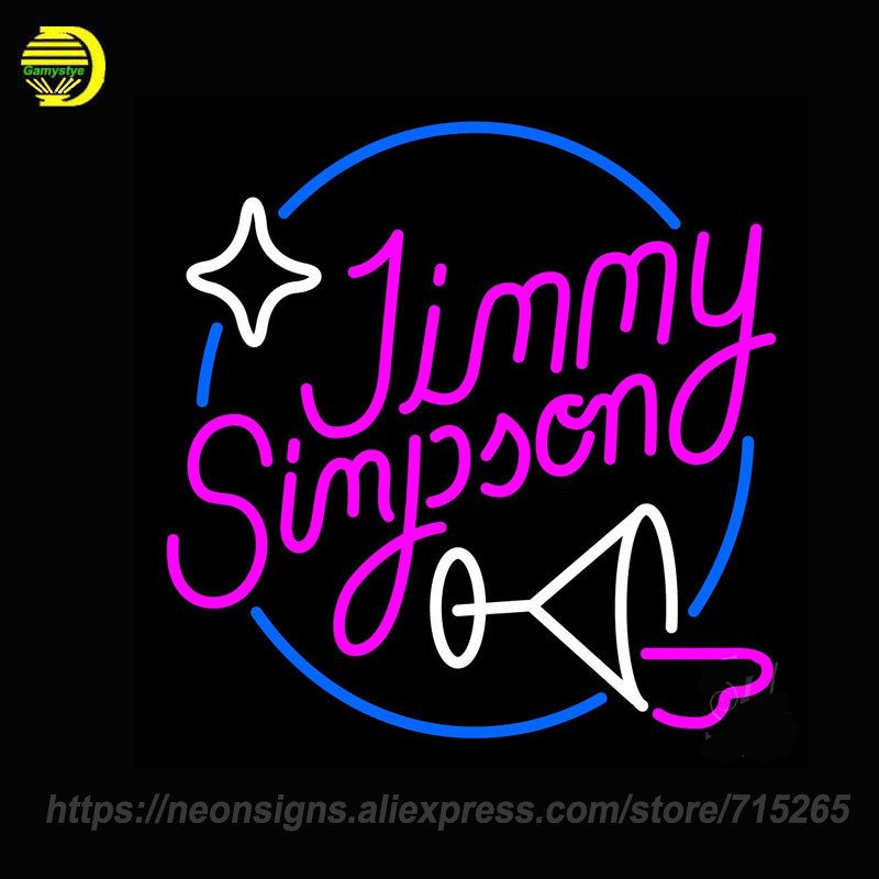 Neon Sign Jimmy Simpson Lady Luck Martini Glass Lady Luck Tiki Bar