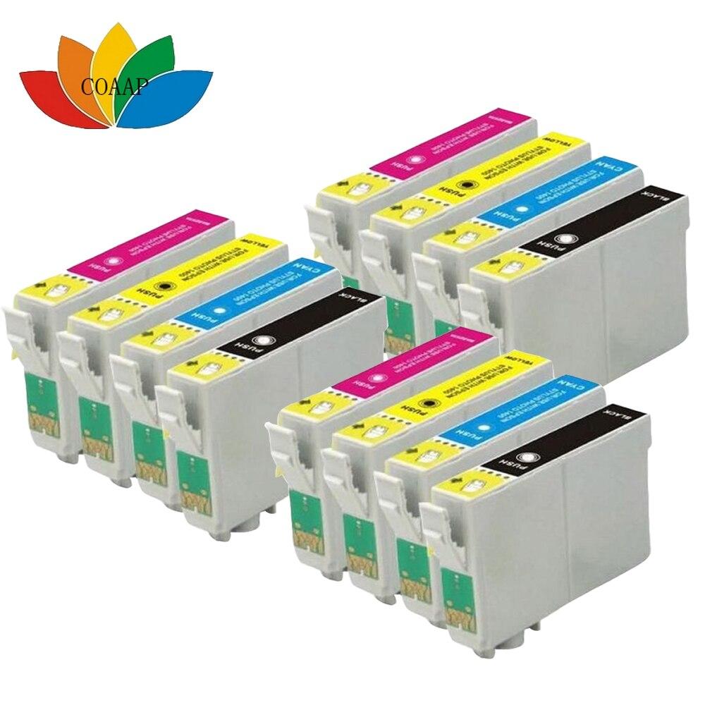 12 Compatible T0711 cartouche dencre pour Epson stylus SX205 SX210 SX215 SX218 SX400 SX405 SX415 SX510 SX515W SX410 SX600FW imprimante