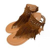 Women Summer Flower Girls Flip Flops Beach Sandals Bohemia Flat Sandals