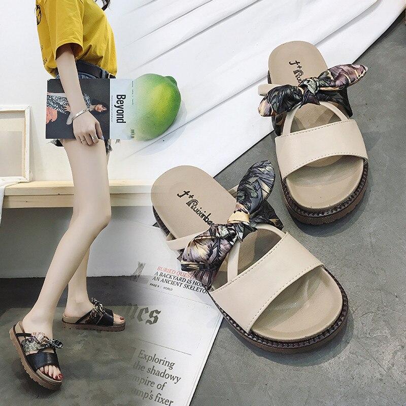 PHYANIC Новые Модные женские босоножки дамы Повседневное бабочкой Женская вечерняя Обувь Пляжная летняя обувь для девочек Flat Slides