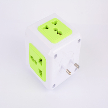 PowerCube Electrical Plug Power Strip Travel Socket EU/AU /US Plug Outlets Adapter extension Plug 4 Outlets Power Strip Switch image
