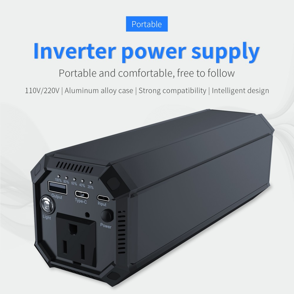 IP69 Inverter AC Power Bank with AC 100W Sine Wave & 17W USB & 18W Type-C Output 31200mAh Battery Built for 3-100W Appliance Use_Poster