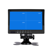 7 Inch QUAD Display screen CCTV TFT LED Monitor with Metal Shell & Watercover for PC & Multimedia & Donitor Display & Microscope