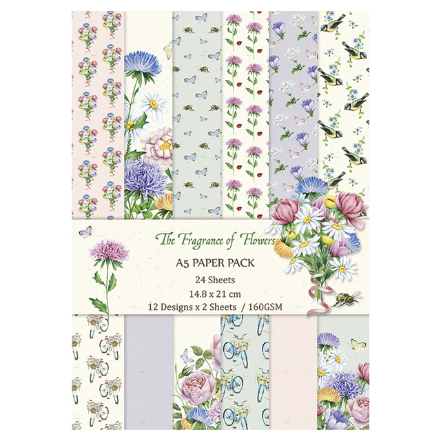 The Fragrance Of Flower Handmade Background Paper Pads Patterns