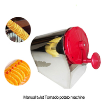 Spiral Potato Cutter Vegetable Tools Stainless Steel Twist Tornado Potato Machine, Spiral Potato Slicers Food Processor