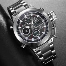 New Famous Luxury Brand Men Waterproof Full Steel Watches Men's Quartz Analog LE