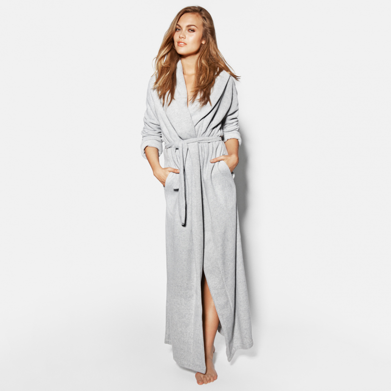 Women's Ultra Long Robes Microfiber Fleece Floor Length Plus Sizes Bathrobes Sleepwear Loungewear Night Gown Pajamas Robes