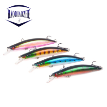 Купить с кэшбэком HAODIAOZHE Fishing Lure Minnow Crank Topwater Swim 11cm 13g Floating Minnow Fish Wobbler Hard Bait Fish Tackle Japan Pesca YU44