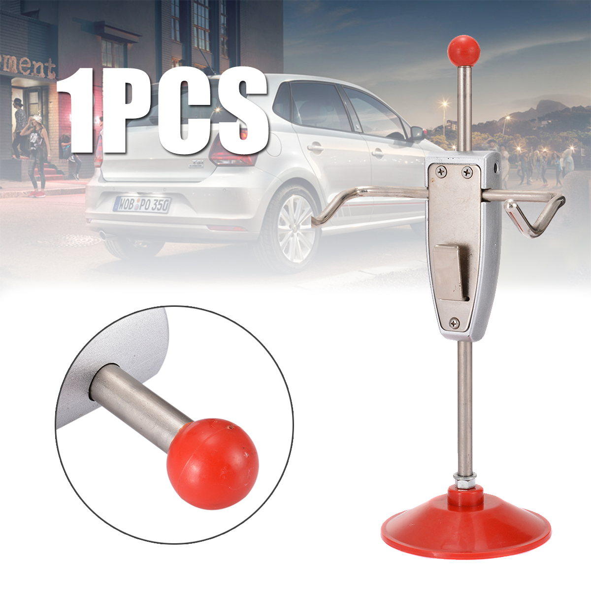 1pc 14.5/368mm Car Steering Wheel Locator Holder Stand Wheel Alignment Rack Tool Vehicle Truck Interior Iron + Plastic Tools