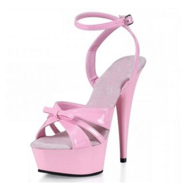 ФОТО 2017 New Rome Style Women's Sweet Pink Sandals Princess Sexy 15cm Super High Heel Sandals Patent Leather Shoes