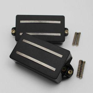 Image 2 - 1 סט מאלניקו מסילות סליל כפול איסוף החלפת חלקי 6 מחרוזת גיטרה חשמלית או מכשירי דיוק (GDR שחור)