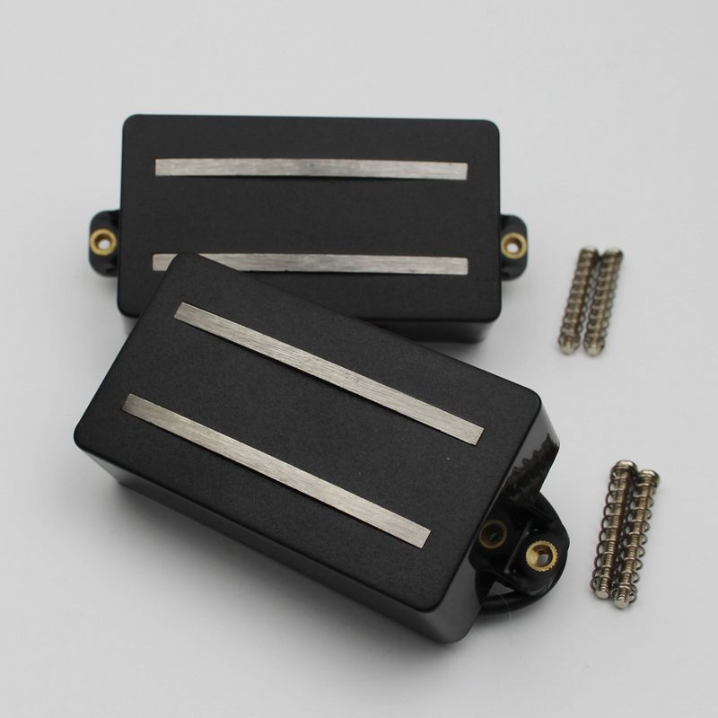 Image 2 - 1 Set Alnico Rails Coil Double Pickup Replacement Parts for 6  String Electric Guitar or Precision Instruments (GDR Black)Guitar Parts