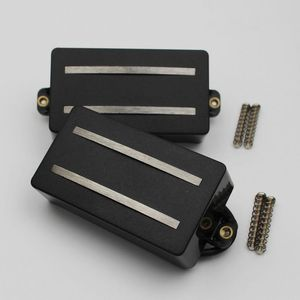 Image 2 - 1 Set Alnico Rails Coil Double Pickup Replacement Parts for 6 String Electric Guitar or Precision Instruments (GDR Black)