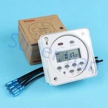 CN101A con cubierta 4 unids CN101 cables Digital LCD de Alimentación Programable semanal TEMPORIZADOR Relé Interruptor de Tiempo con cubierta protectora 7 días