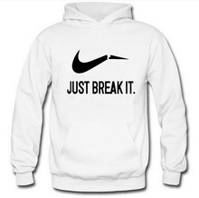 2017 Autumn New Arrival High JUST BREAK IT Hoodie printed Sportswear Men Sweatshirt Hip-Hop Male Hooded Hoodies Hoody clothing Y