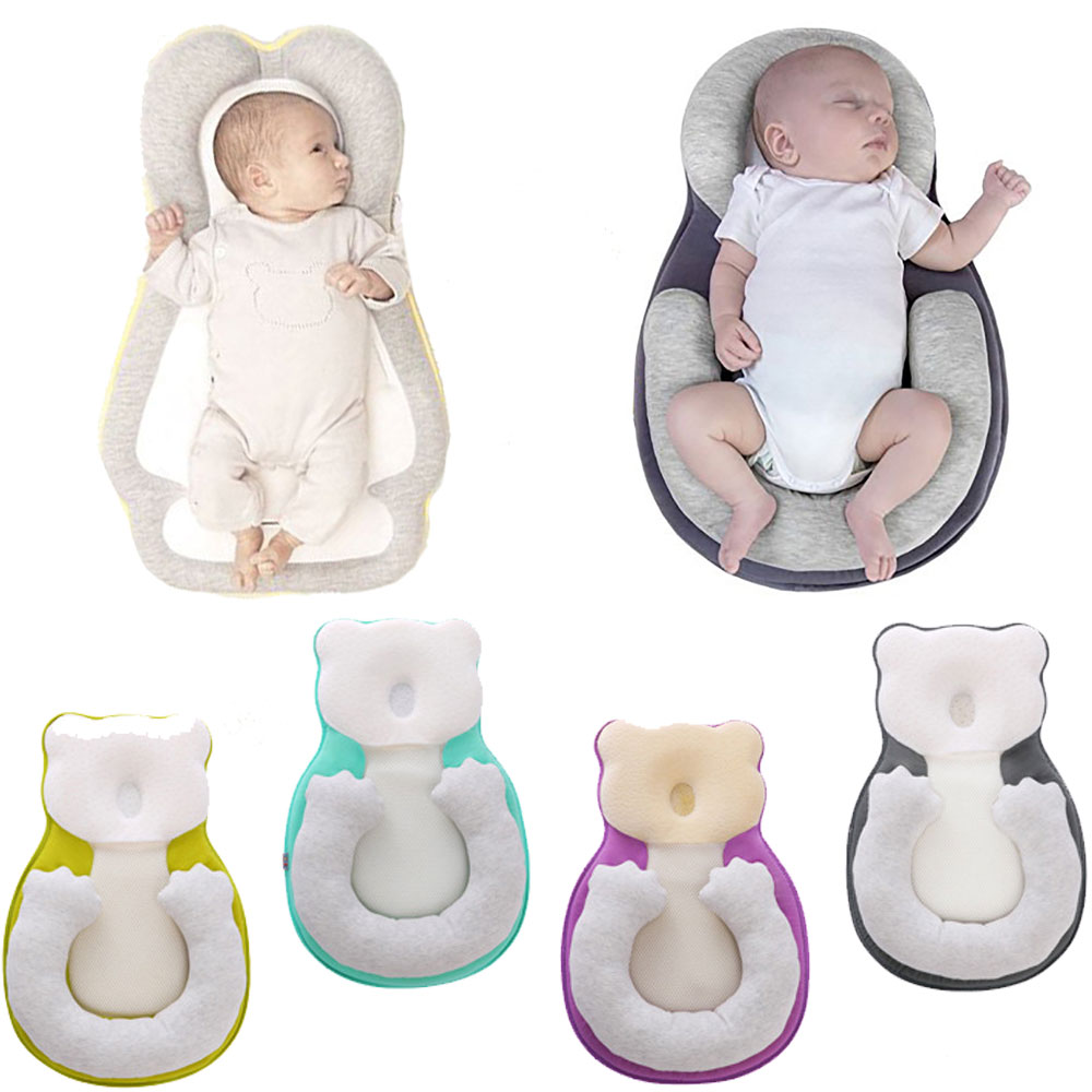 Portable Baby Pillow Nursery Travel Folding Bed Infant Toddler Cradle Multifunctional Baby Shaping Pillows Prevent Flat Head