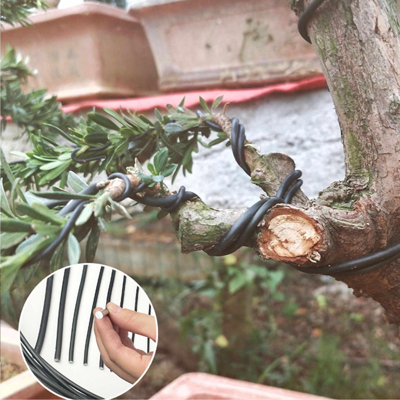 6 рулонных 5 м алюминиевых деревьев тренировочные провода для сада растения бонсай начинающих тренеров художников 1 мм/1,5 мм/2 мм черный