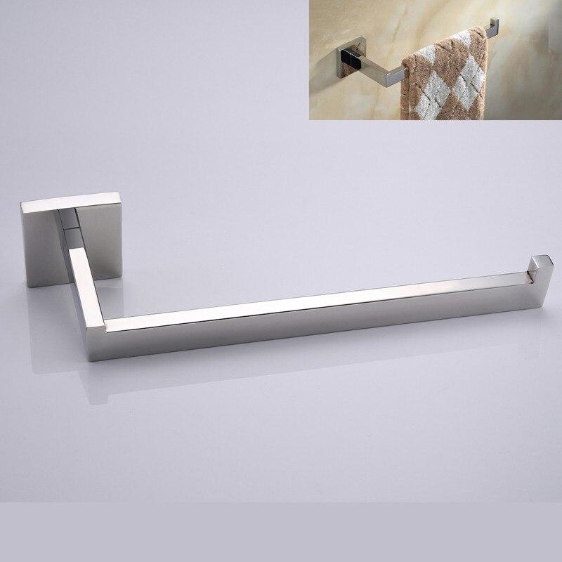 Matt Black/ Mirror Polish Square Towel Holder Wall Mounted Stainless ...