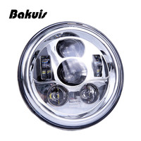 Bakuis 7 Inch Round LED Headlights Conversion Kit 90W w/H4 H13 Adapters For Jeep Wrangler TJ JK Hummer H1 H2 Headlamp Assembly