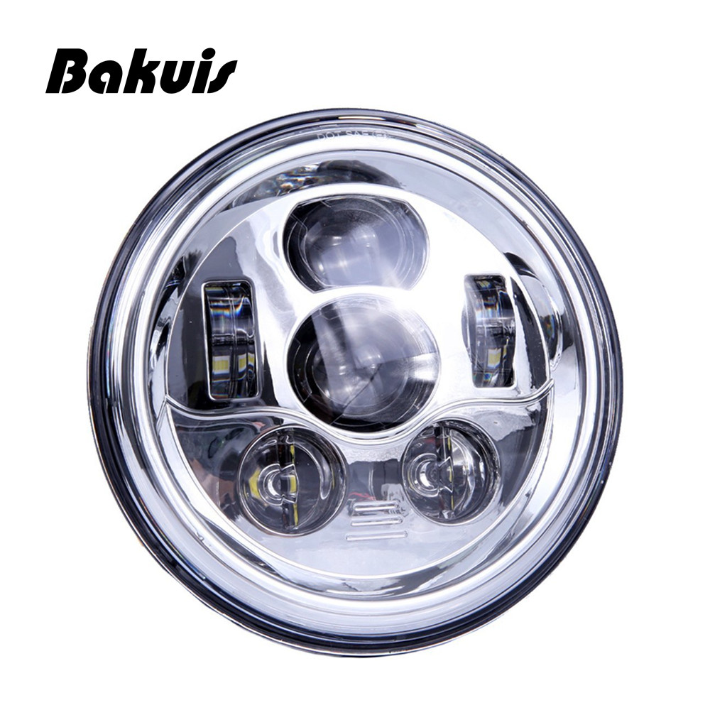 Bakuis 7 Inch Round LED Headlights Conversion Kit 90W w/H4 H13 Adapters For Jeep Wrangler TJ JK Hummer H1 H2 Headlamp Assembly jk wrangler headlights 7 inch round led headlight conversion kit drl light assembly for jk tj hummmer trucks motorcycle headlamp
